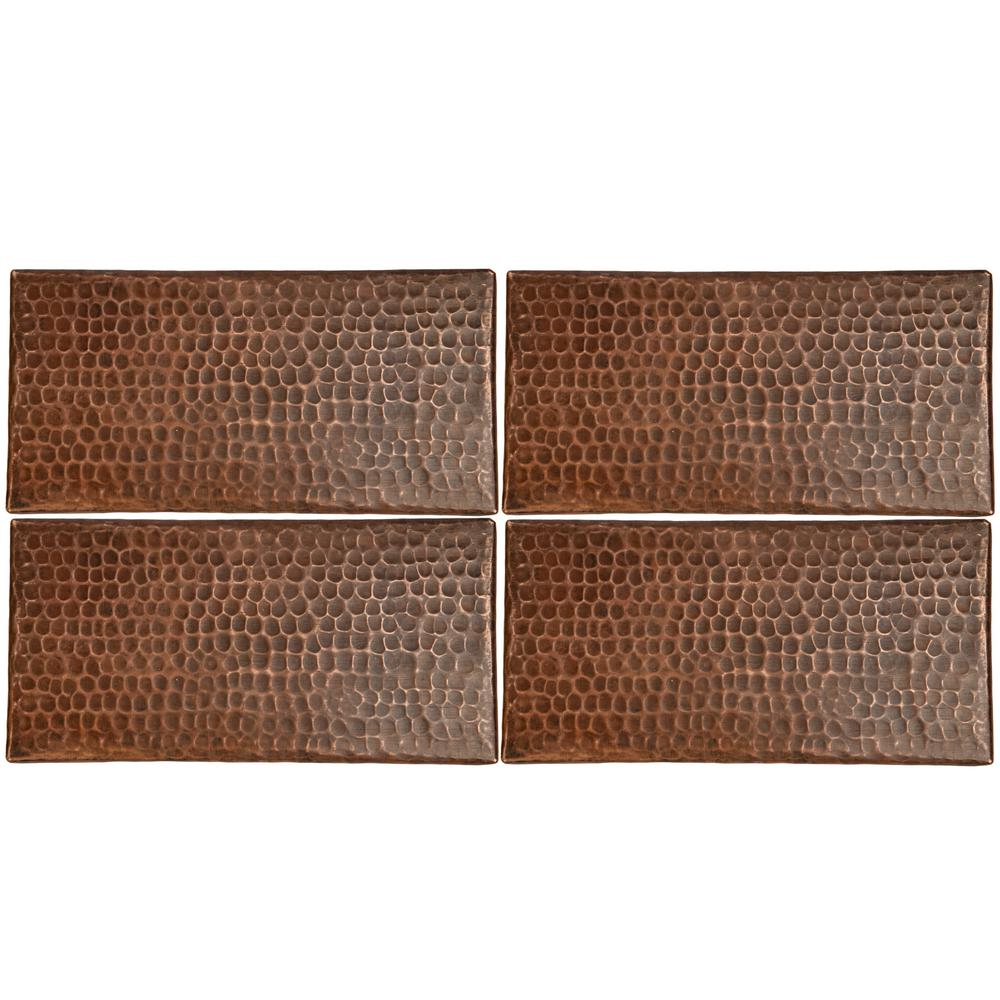 - Premier Copper Products 4 In. X 8 In. Hammered Copper Decorative