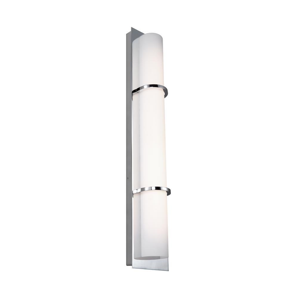 Feiss Cynder 20-Watt Chrome Integrated LED Sconce
