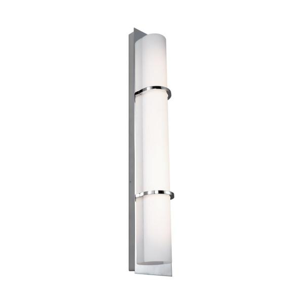 Cynder 20-Watt Chrome Integrated LED Sconce