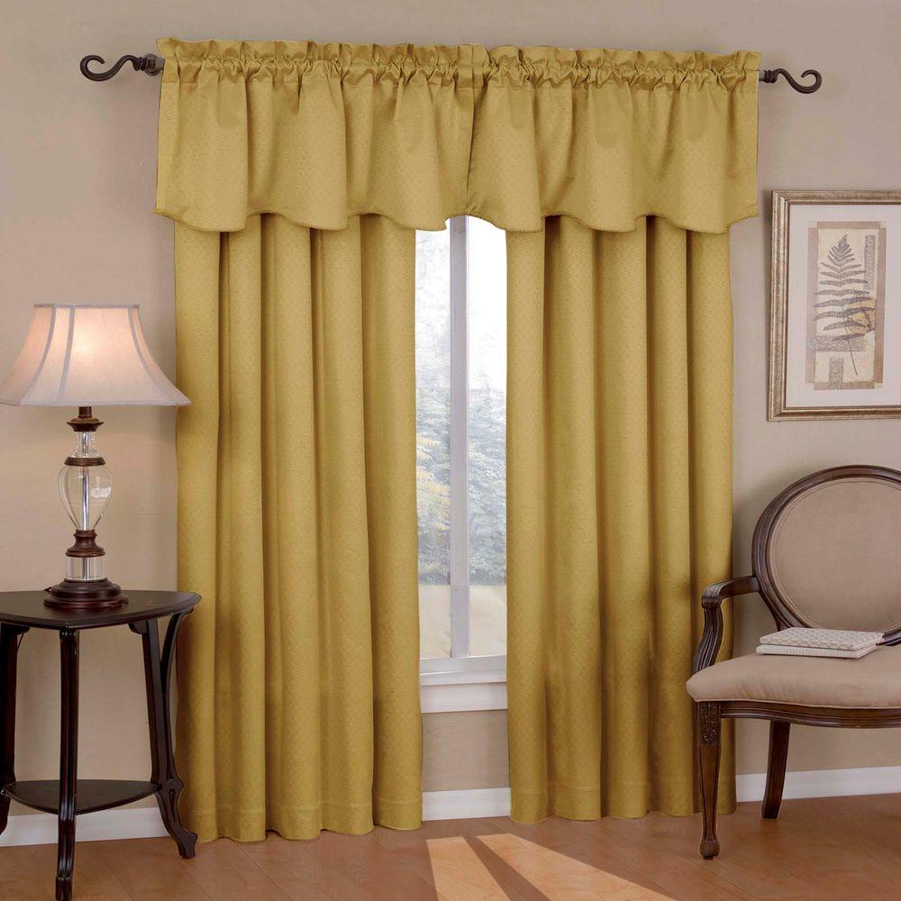 Eclipse Canova Blackout Gold Curtain Panel, 84 in. Length ...