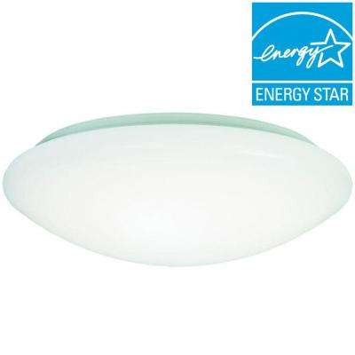 8 in. 60-Watt Equivalent White Low Profile Integrated LED Round Ceiling Flushmount Light, 4000K Cool White
