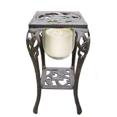 Hummingbird Candle Holder with Candle, Antique Bronze