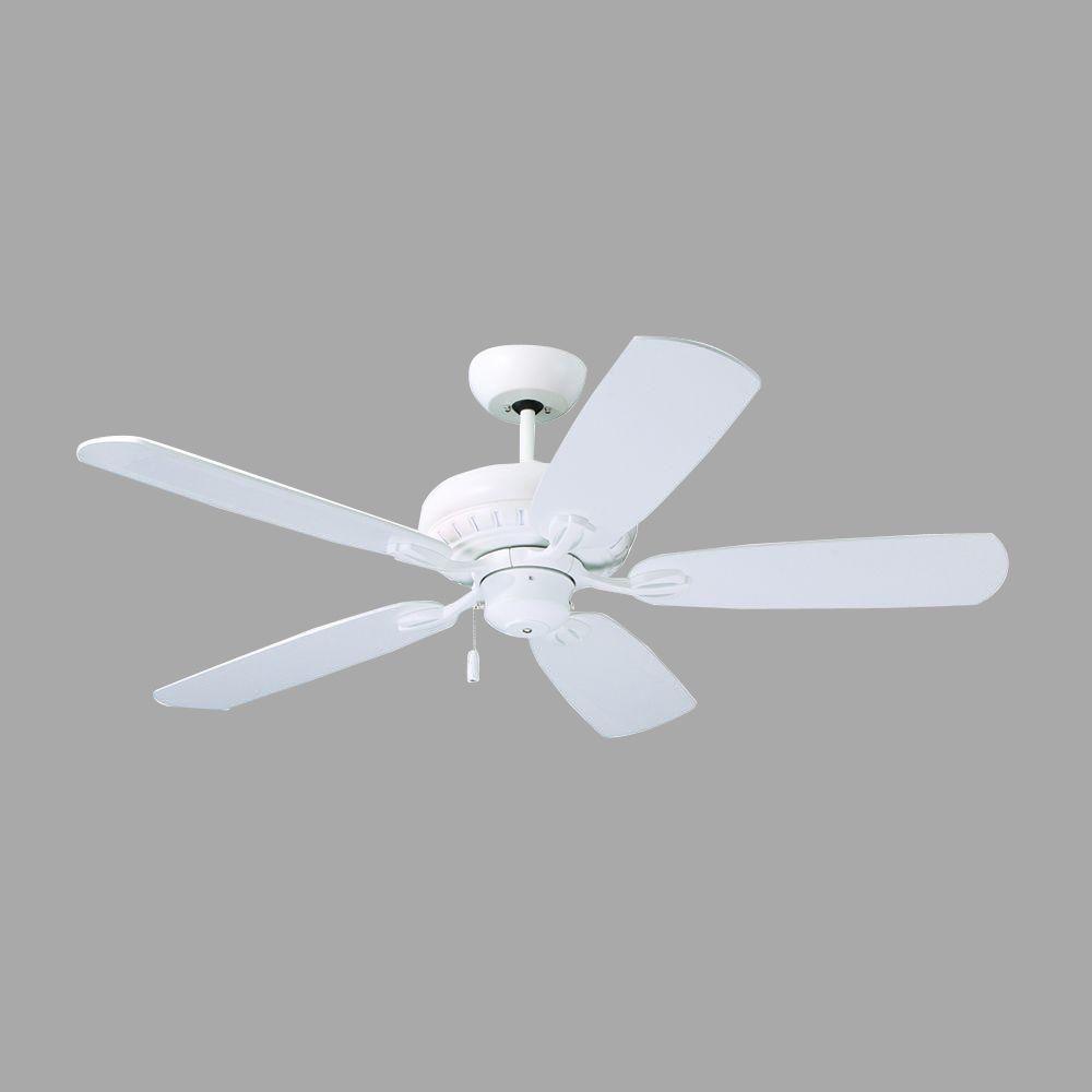 Illumine Zephyr 52 in. Satin White Indoor Ceiling Fan