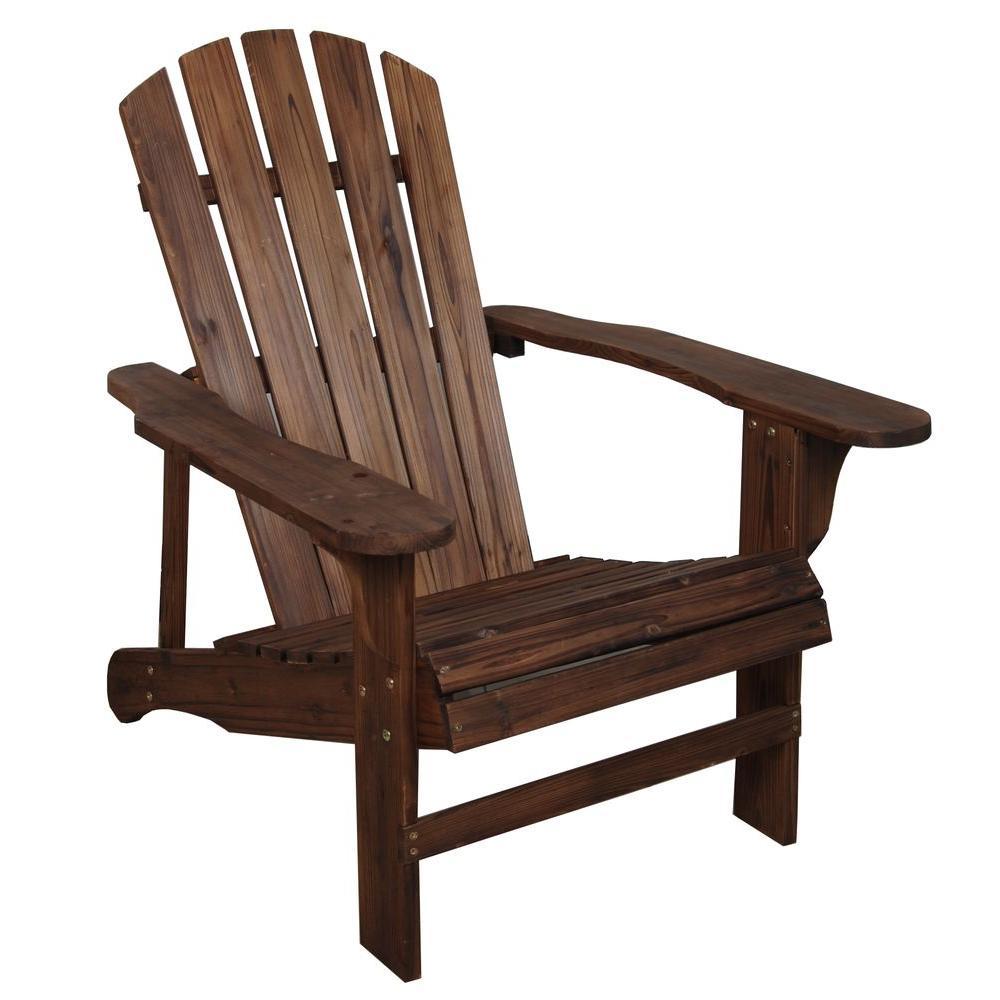 Charred Wood Patio Adirondack Chair