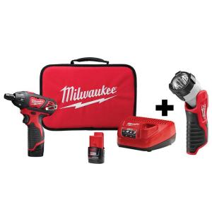 Deals on Milwaukee M12 12-V Lithium-Ion 1/4-in Screwdriver Kit w/Light
