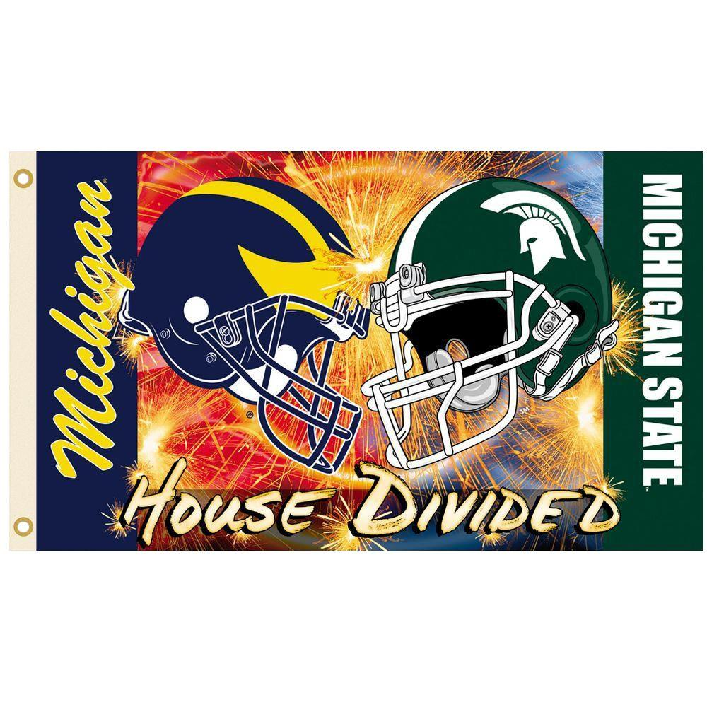 NCAA 3 ft. x 5 ft. Michigan/Michigan State Rivalry House Divided