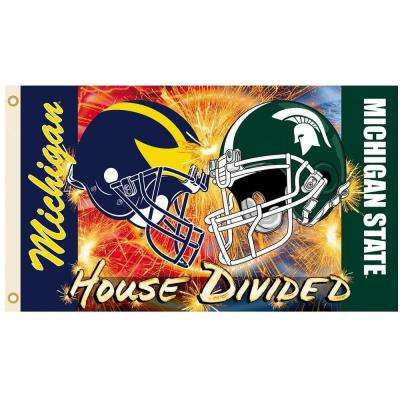 NCAA 3 ft. x 5 ft. Michigan/Michigan State Rivalry House Divided Flag