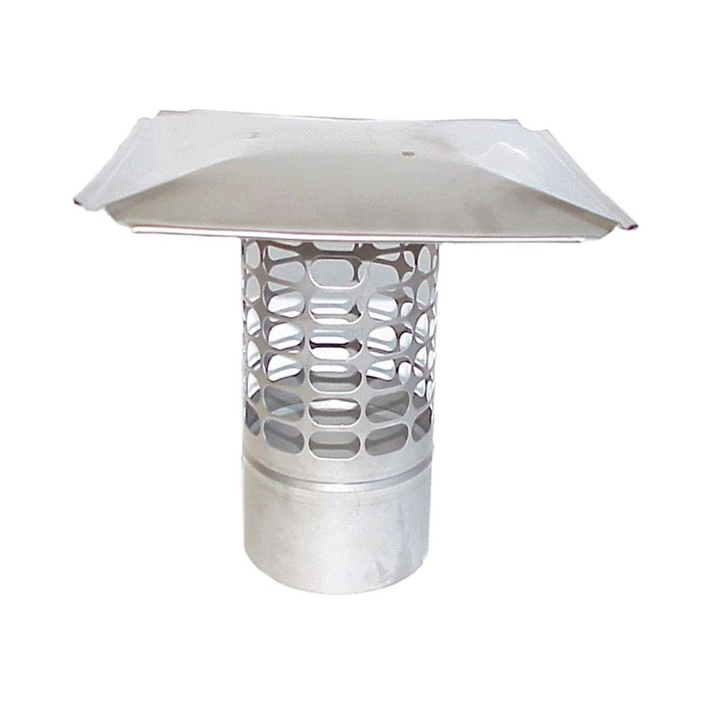 Slip-In 11 in. Round Fixed Stainless Steel Chimney Cap