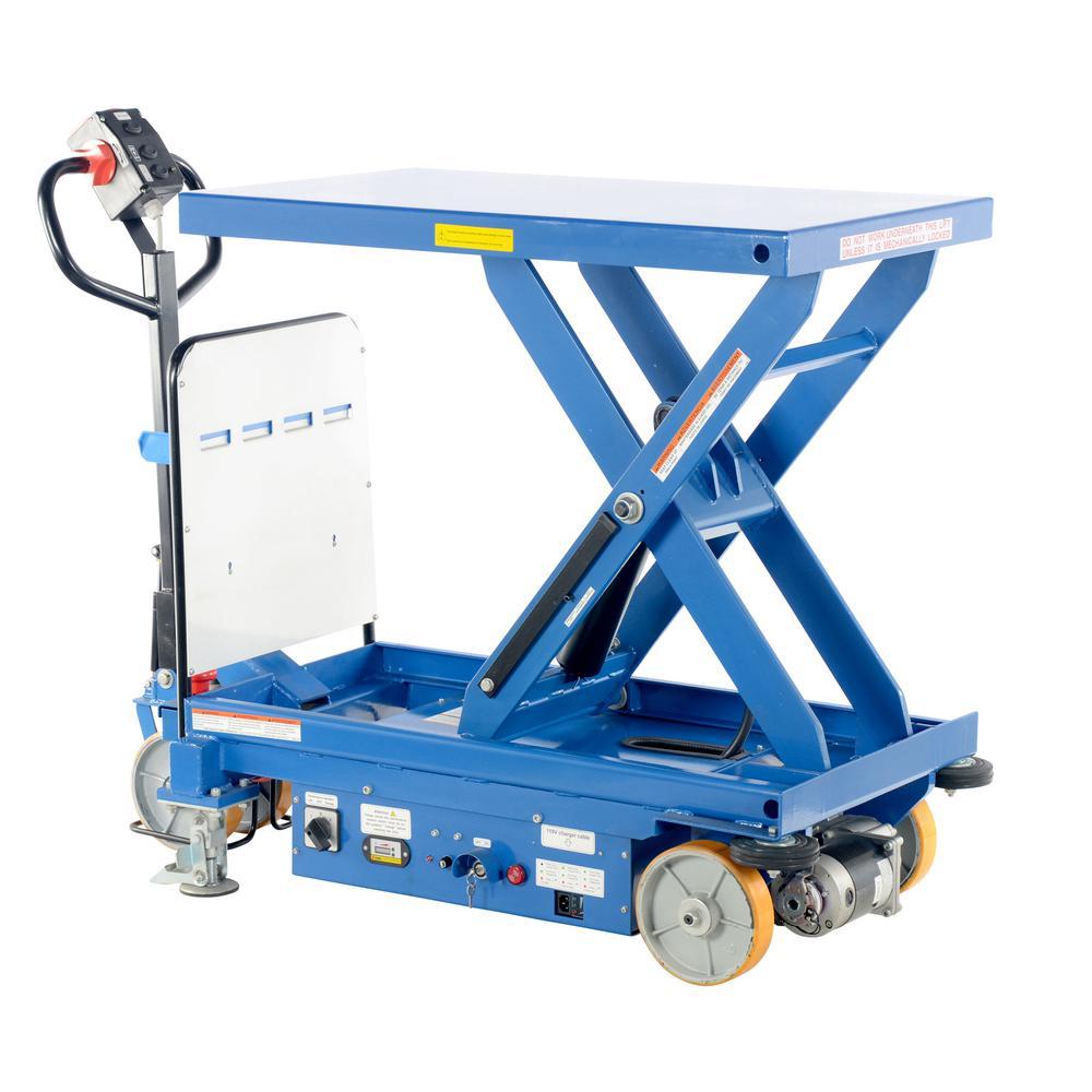 1,500 lbs. 40 in. x 24 in. Hydraulic Single Scissor Cart