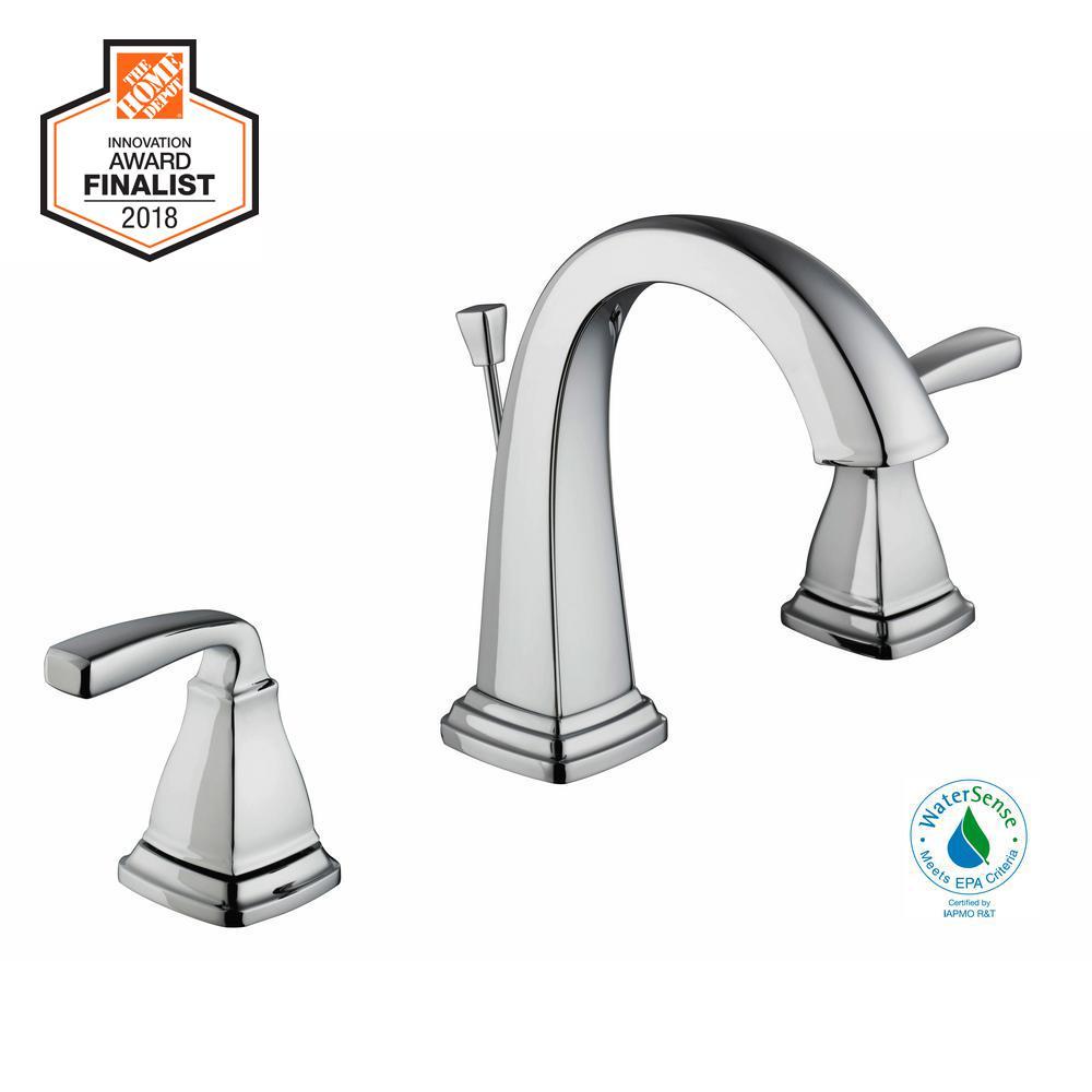 Glacier Bay Mason 8 In Widespread 2 Handle High Arc Bathroom Faucet