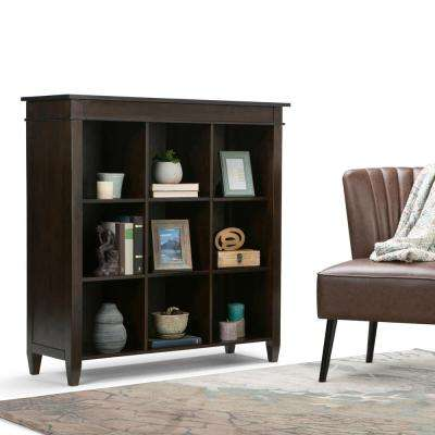 Carlton Dark Tobacco Brown Open Bookcase