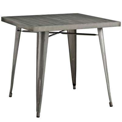 Alacrity Gunmetal Square Metal Dining Table
