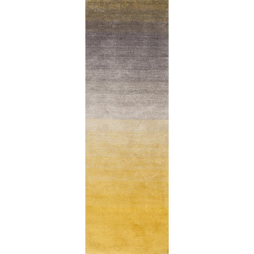 Ana Ombre Shag Yellow 3 ft. x 10 ft. Runner