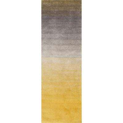 Ombre Shag Yellow 2 ft. 6 in. x 10 ft. Runner Rug