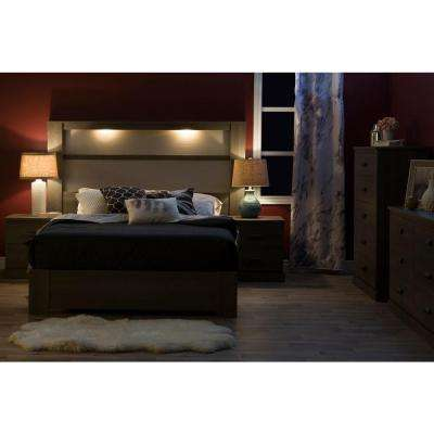 Gloria Gray Maple Queen-Size Platform Bed