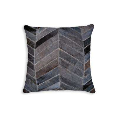 Torino Chocolate 18 in. x 18 in. Chevron pillow