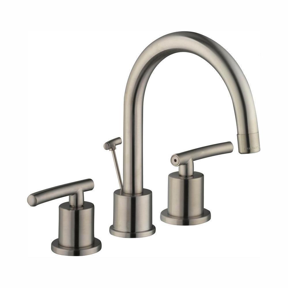 Glacier Bay Dorset 8 in. Widespread 2-Handle High-Arc Bathroom Faucet in Brushed Nickel