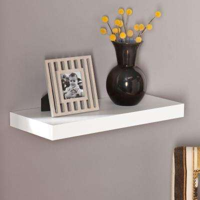 Beau Milson Decorative Floating Shelf In White