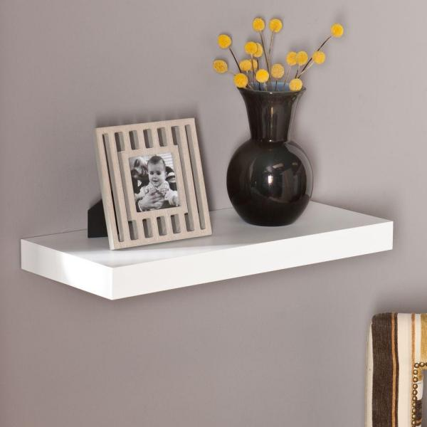 Southern Enterprises Milson Decorative Floating Shelf in White HD865546