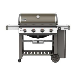 Weber Genesis II E-410 4-Burner Propane Gas Grill in Smoke with Built-In Thermometer by Weber