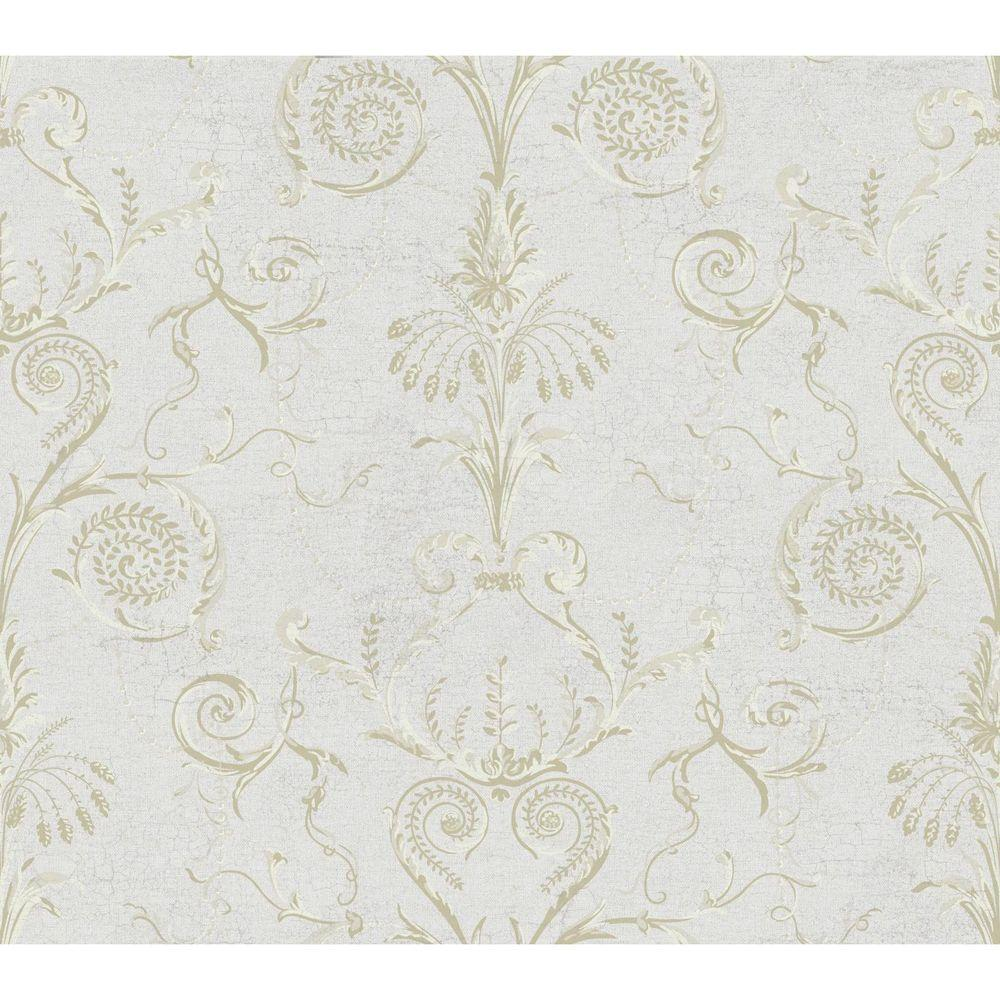 Black and White Neo Classic Damask Wallpaper