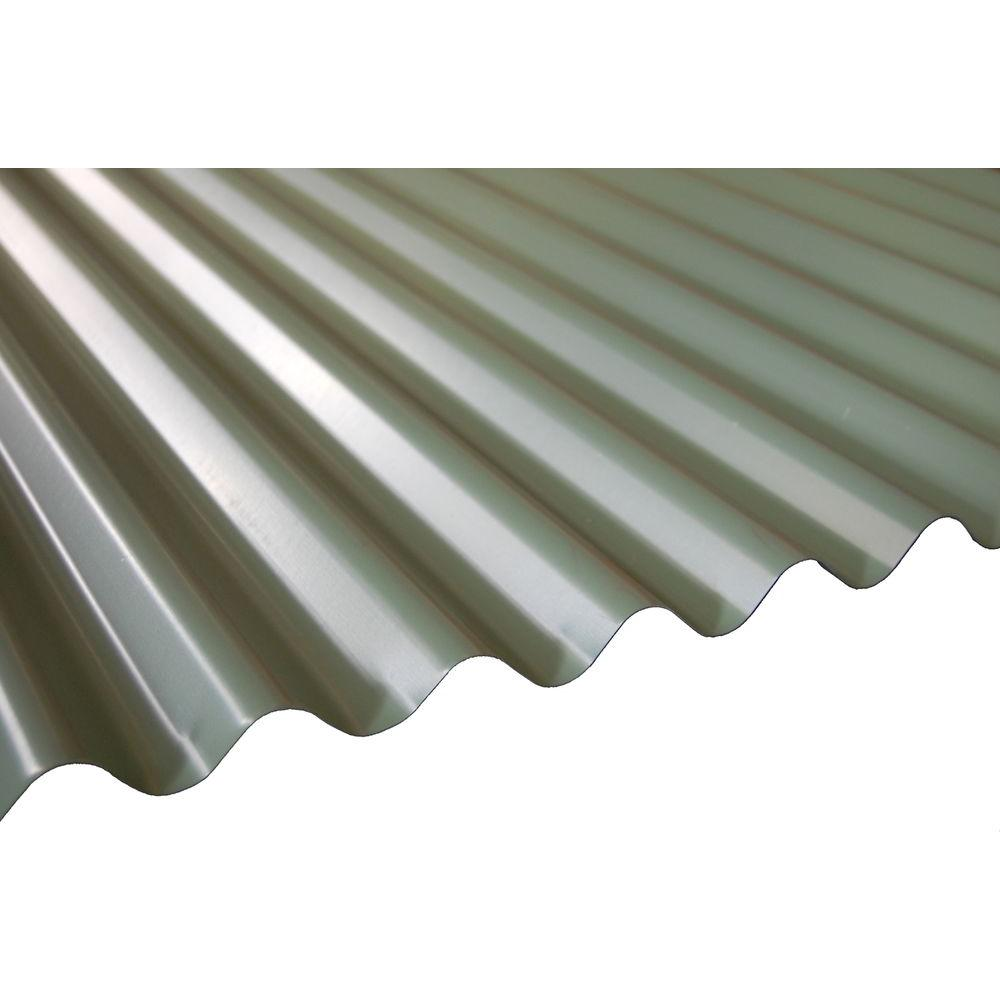 16 ft. Patina Green Deep Corrugated Steel Roof Panel