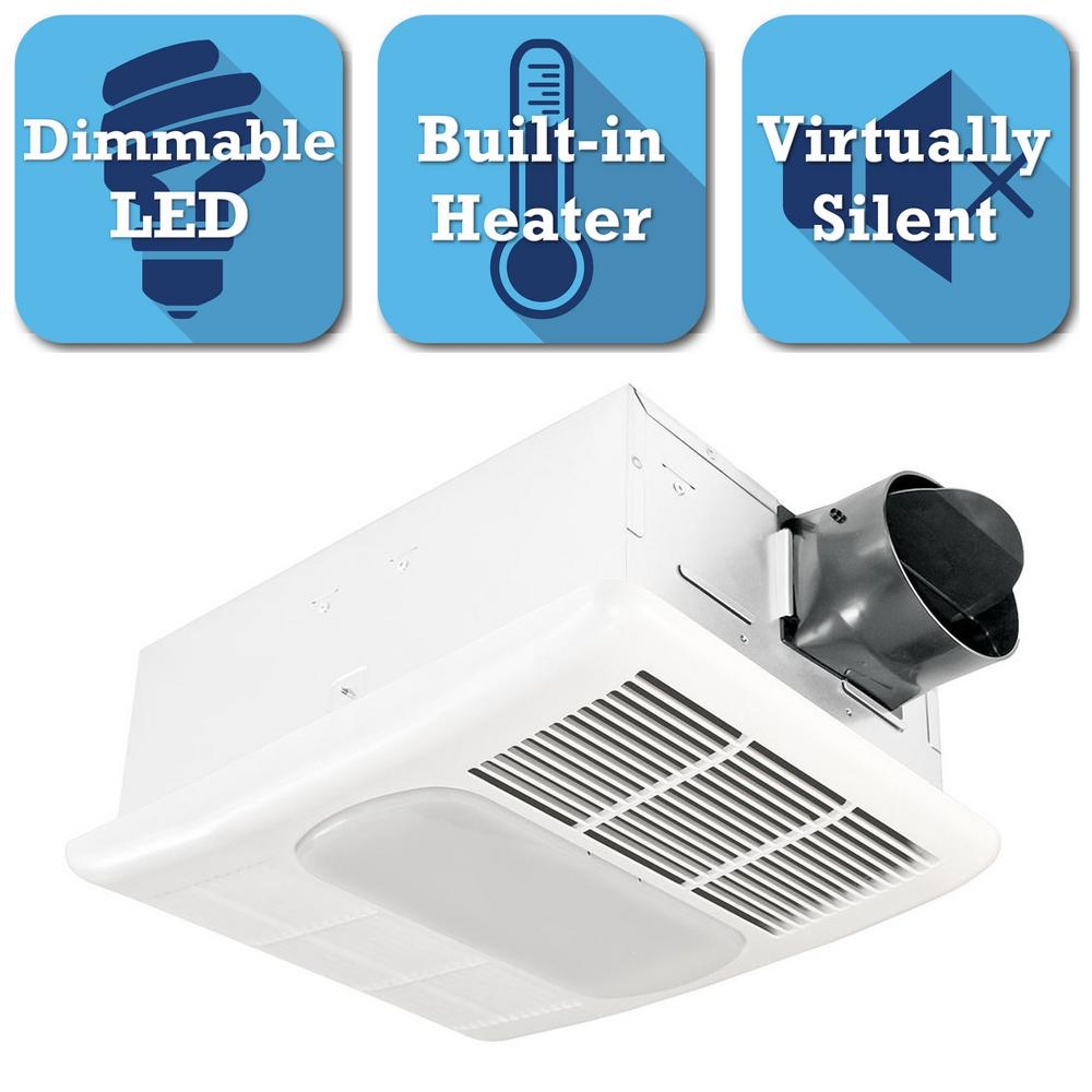 Radiance Series 80 CFM Ceiling Exhaust Bath Fan with Dimmable LED