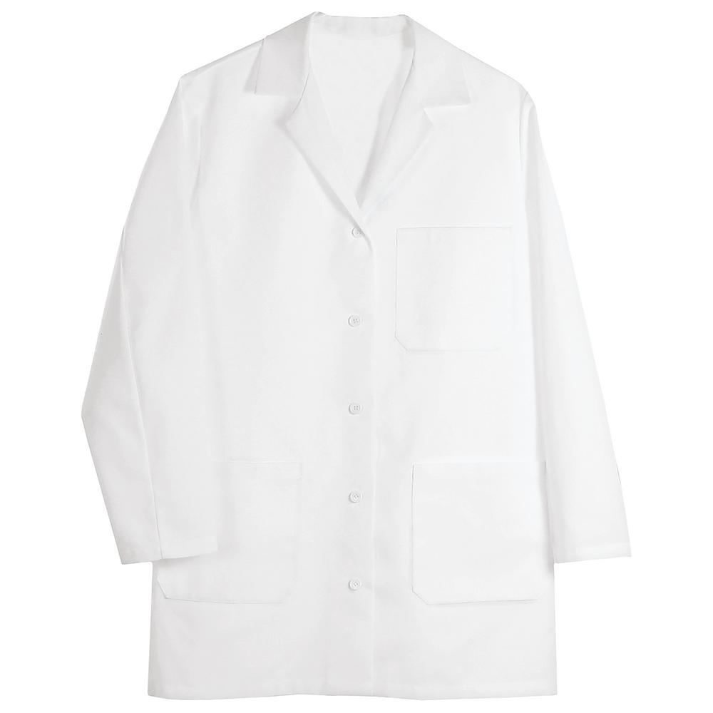 girl power at work l1 women s small white poly cotton lab coat 82524