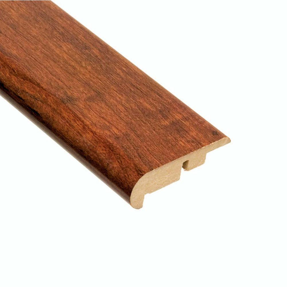 Hampton Bay High Gloss Keller Cherry 11.13 mm Thick x 2-1/4 in. Wide x 94 in. Length Laminate Stair Nose Molding-DISCONTINUED