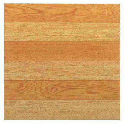 Tivoli Light Oak 12 in. x 12 in. Peel and Stick Plank Pattern Vinyl Tile (45 sq. ft./case)