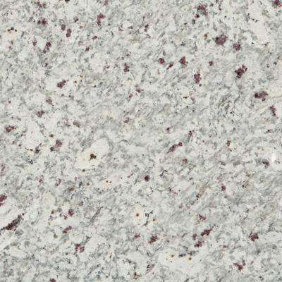 3 in. x 3 in. Granite Countertop Sample in Moon White