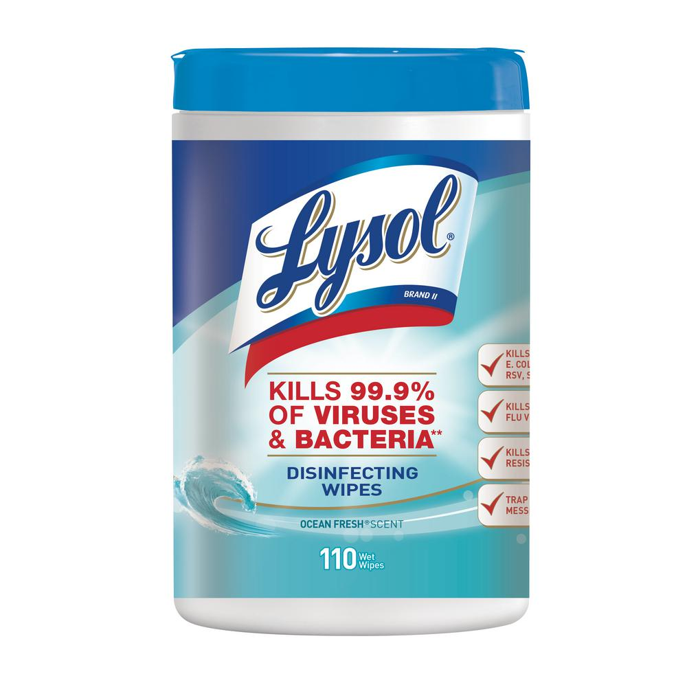 lysol ocean fresh disinfecting wipes 110 count 19200 93010 the