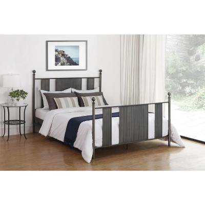 Athena Brushed Nickel Queen Bed Frame