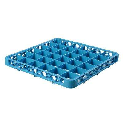 19.75 in. x 19.75 in. 36-Compartment Optional Accessory Extender for OptiClean Glass washing Racks in Blue (Case of 6)