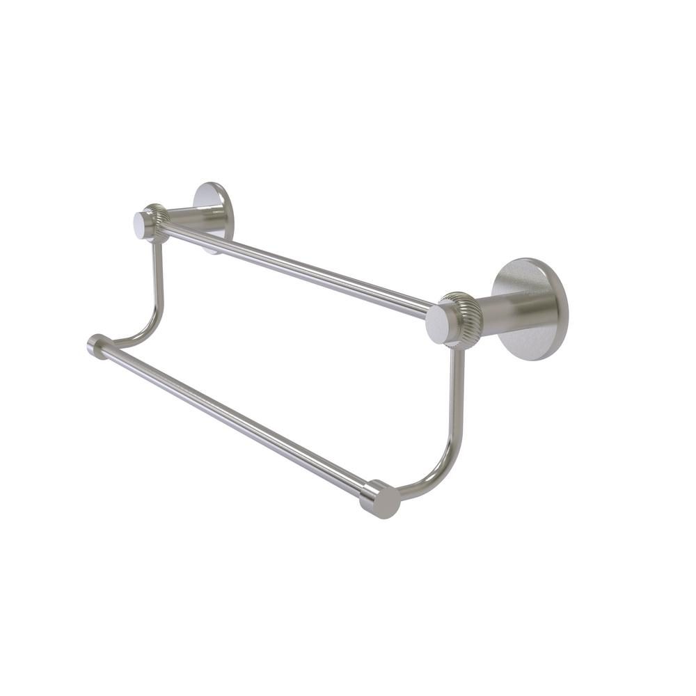 Mercury Collection 24 in. Double Towel Bar with Twisted Accent in