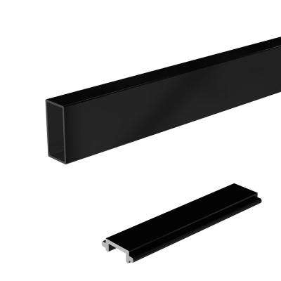 4 ft. Aluminum Wide Picket and Spacer Kit in Black