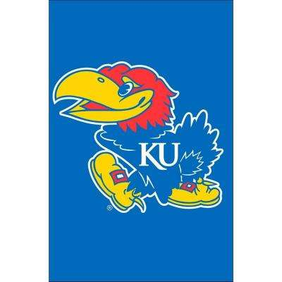 NCAA 12-1/2 in. x 18 in. Kansas 2-Sided Garden Flag