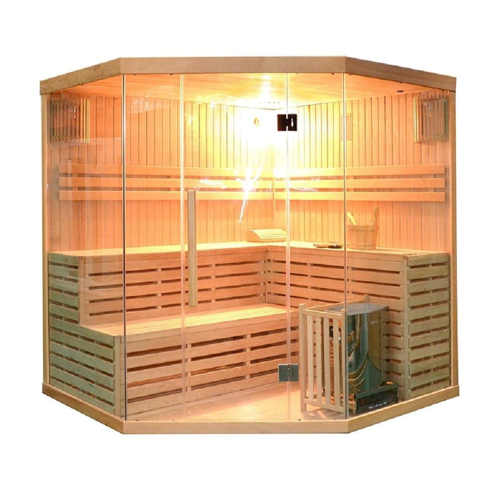 6-Person Canadian Hemlock Electric Heater Sauna