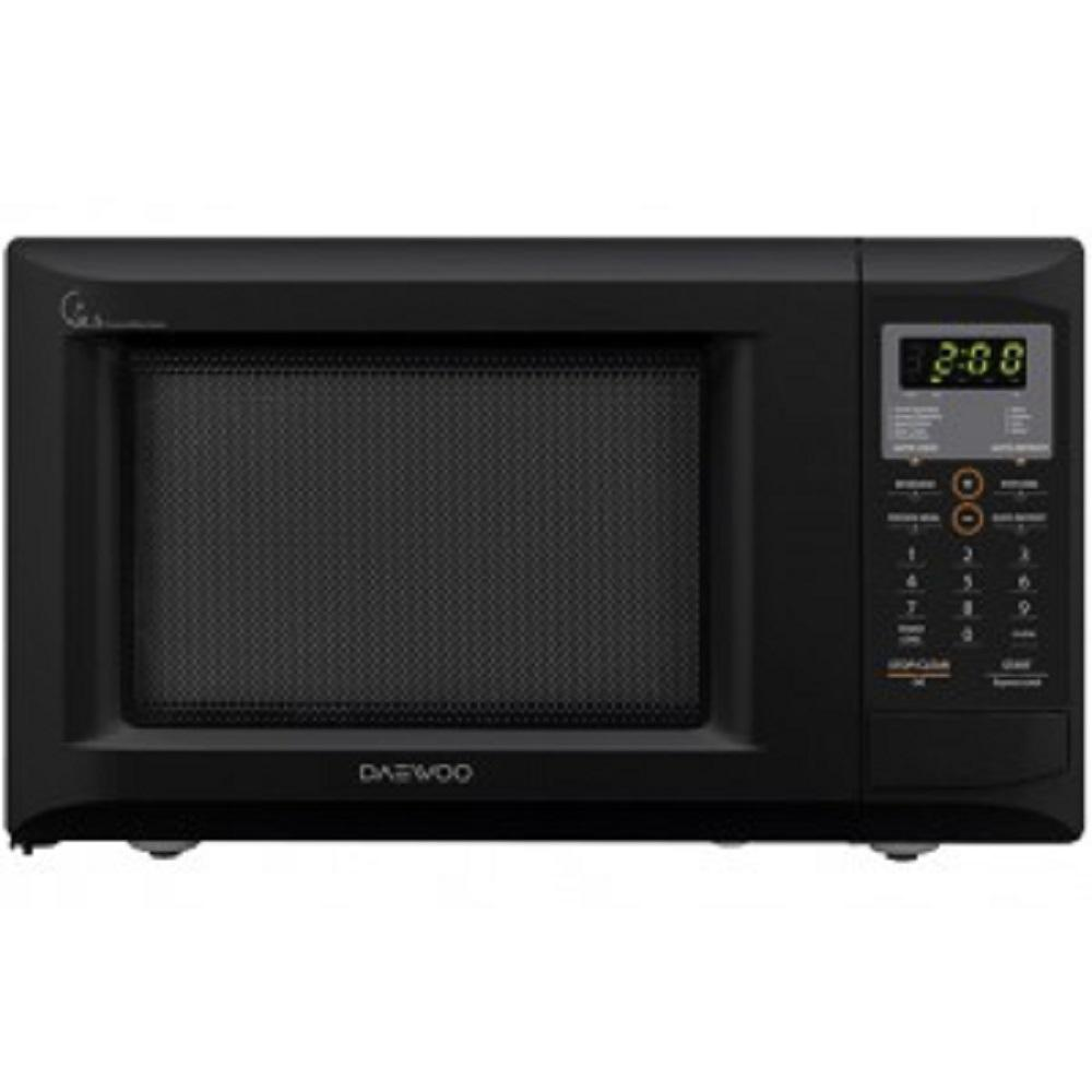 DAEWOO 0.9 cu. ft. Countertop Concave Reflex System Microwave in Black