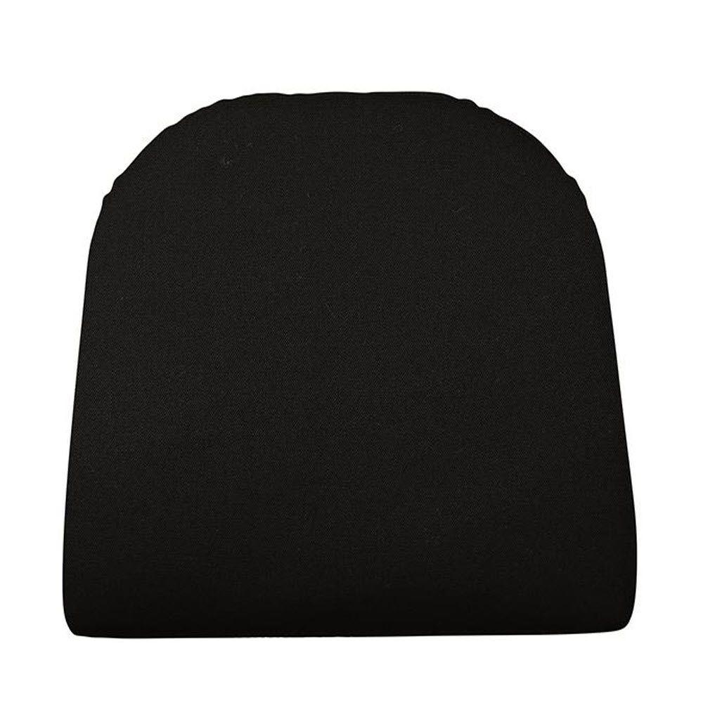 Home Decorators Collection Sunbrella Black Contoured Outdoor Seat Cushion