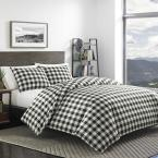 Mountain 2-Piece Black Twin Comforter Set