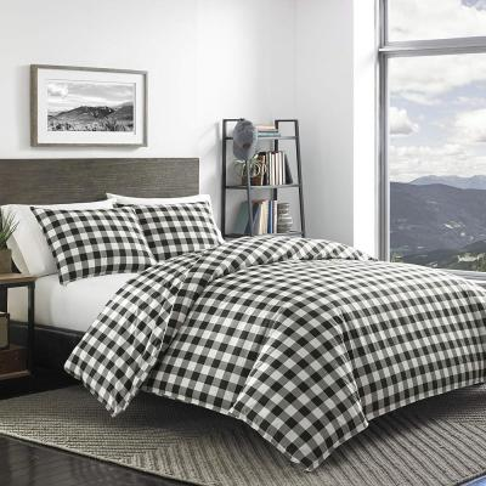Mountain 2-Piece Black Twin Comforter Set
