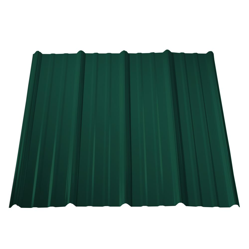 10 ft. Classic Rib Steel Roof Panel in Forest Green