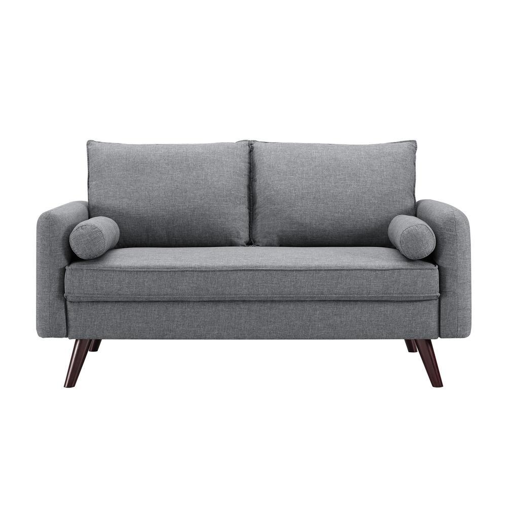 Callie Mid Century Grey Modern Loveseat