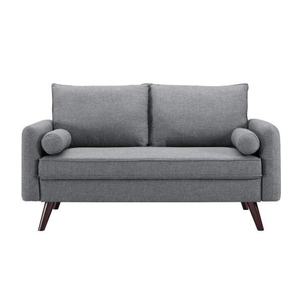 Remarkable Callie Mid Century Grey Modern Loveseat Pabps2019 Chair Design Images Pabps2019Com