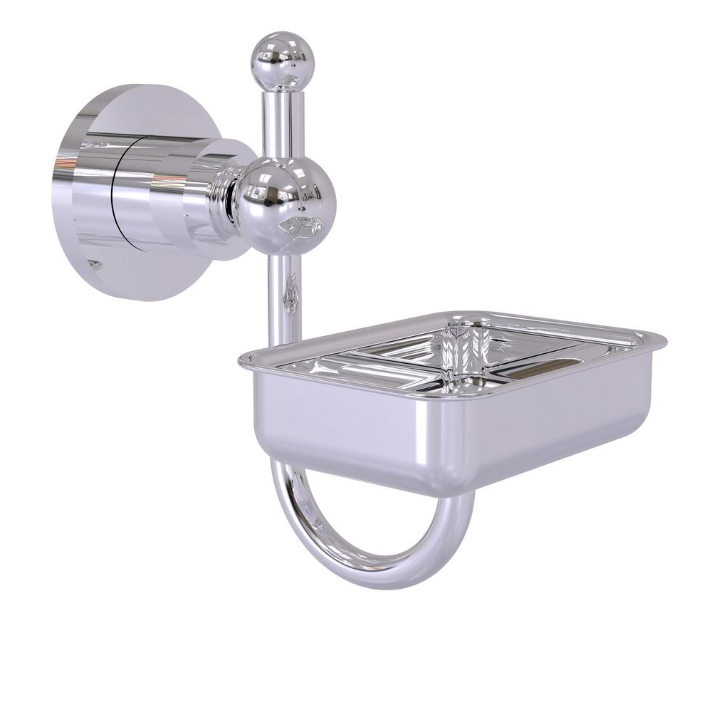 Astor Place Wall Mounted Soap Dish in Polished Chrome
