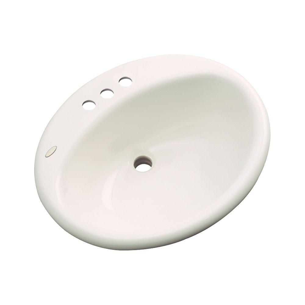 null Bayfield Drop-In Bathroom Sink in Bone