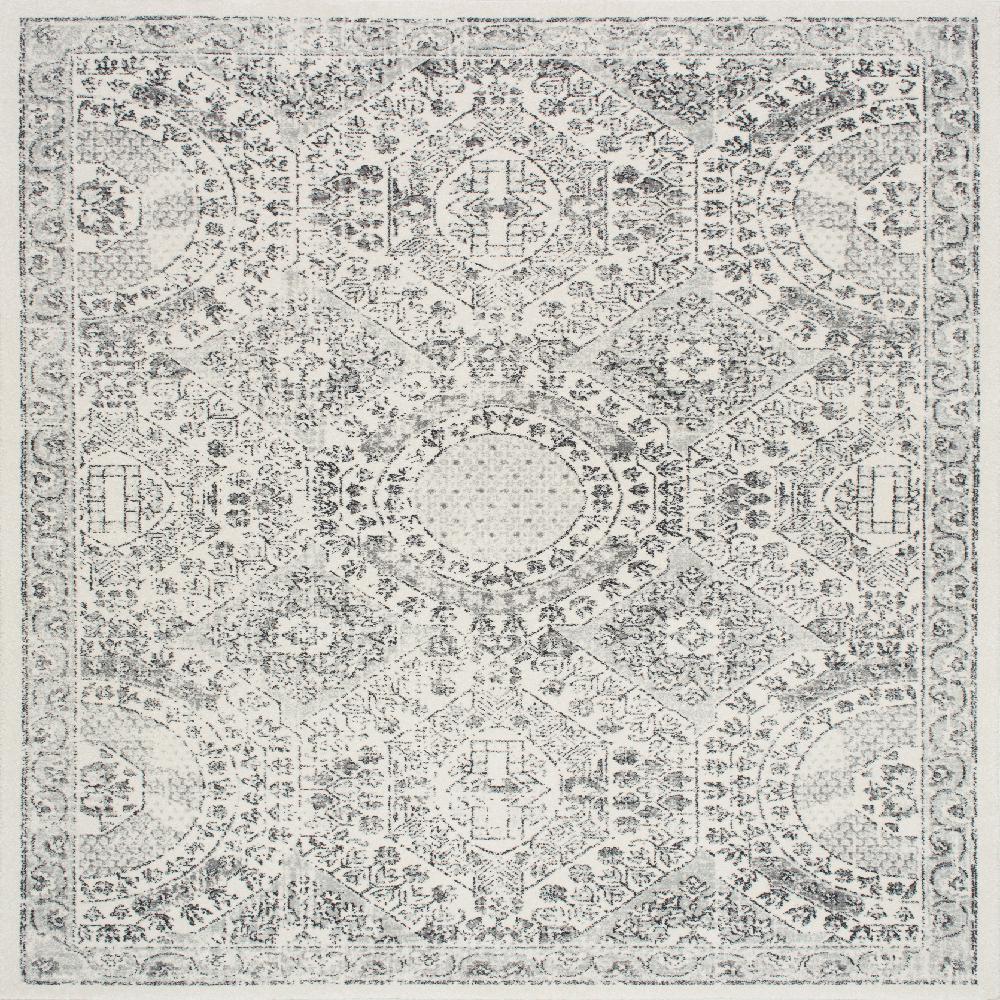 Nuloom Vintage Minta Gray 8 Ft X 8 Ft Square Area Rug