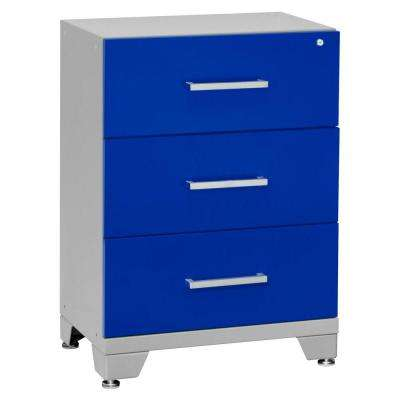 Performance 33 in. H x 24 in. W x 16 in. D 3-Drawer Steel Base Tool Chest in Blue