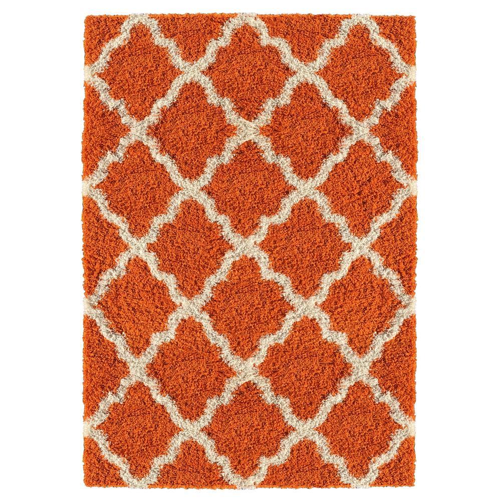 kaleen posh orange 5 ft x 7 ft area rug psh01 89 5 x 7 the home depot. Black Bedroom Furniture Sets. Home Design Ideas